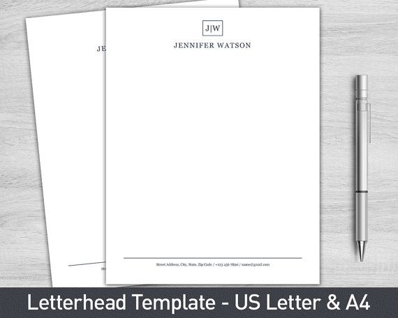 The 45 best Stationery / Letterhead images on Pinterest Document - free personal letterhead templates word