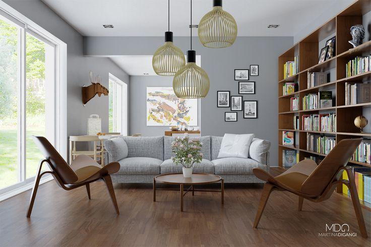 #interior #loft #sofa - Rendering: Cinema 4D + Vray  Post-produzione: Photoshop