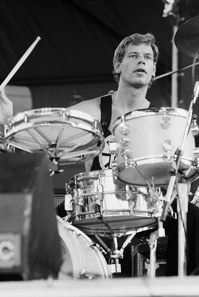 I started to crush on Bill Bruford about four years ago after reading his sharp, acerbically astute autobiography. I love smart, nerdy, talented honey drummers.