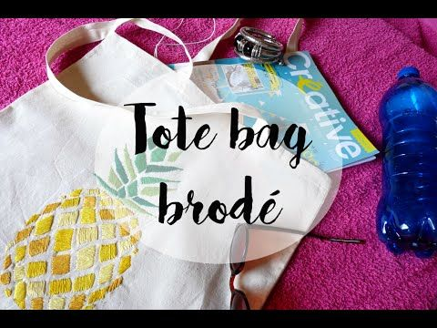 Tote bag ananas brodé - Shop It Yourself