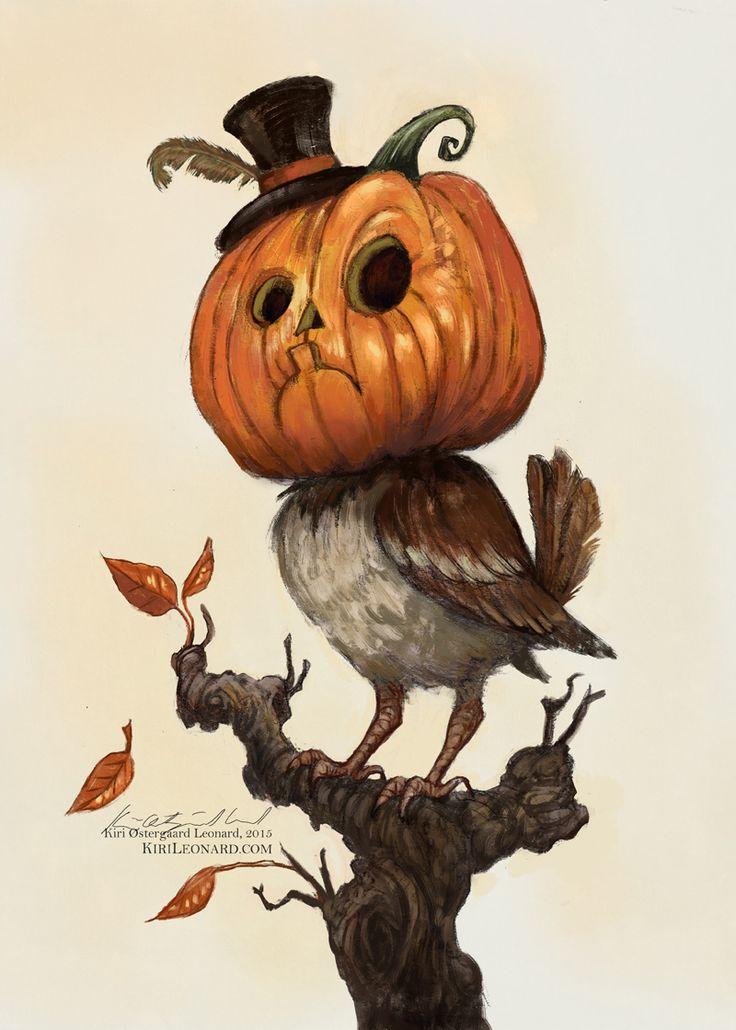 Bookofoctober kiri østergaard leonard personal work pumpkin sparrow series