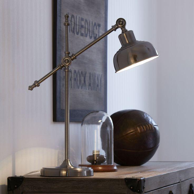 Lampe de bureau articulée en métal antique Grimstad Markslojd