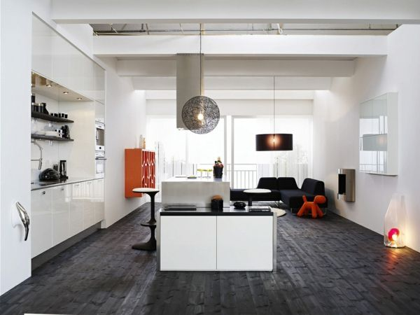Cuisine cuisine blanche sol noir : 17 Best images about Idées pour la maison on Pinterest | Murals ...