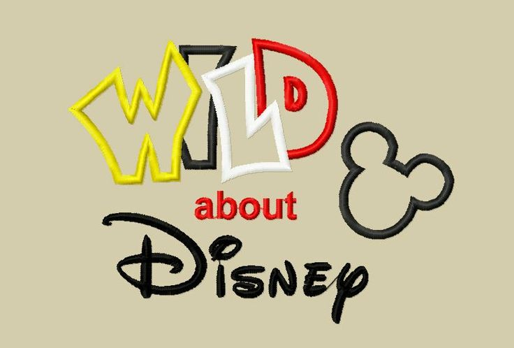 Design - INSTANT DOWNLOAD Applique Embroidery Design Wild about Disney with Mister Mouse 5x7 and 6x10. $3.75, via Etsy.