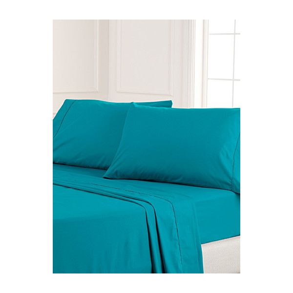Simons Maison Blue percale plus sheet, 200 thread count  Fits... ($7.32) ❤ liked on Polyvore featuring home, bed & bath, bedding, bed sheets, twin bed linens, king bedding, twin bedding, king size bed linen and blue bedding