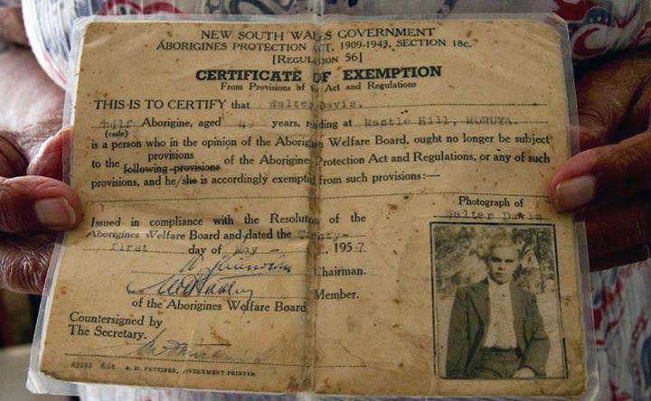 1957 Aboriginal Exemption Certificate