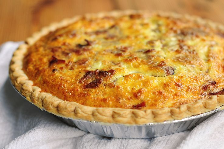 Tasty Kitchen Blog: Brie and Bacon Quiche. Guest post by Amy Johnson of She Wears Many Hats, recipe submitted by TK member Nancy (nancyinnewmexico).