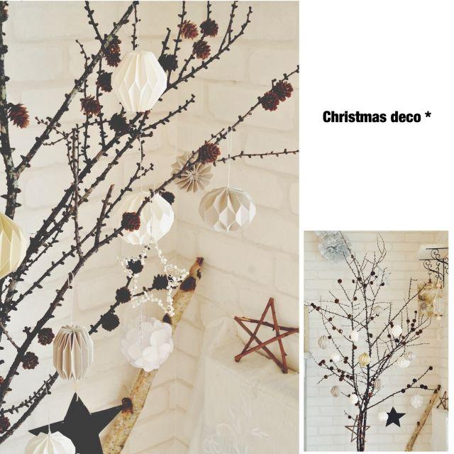 oliveさんの、ワイヤークラフト,星,ペーパークラフト,ハンドメイド,手作り,枝デコ,雑貨,walldeco,カラマツ,オーナメント,クリスマス,リビング,のお部屋写真