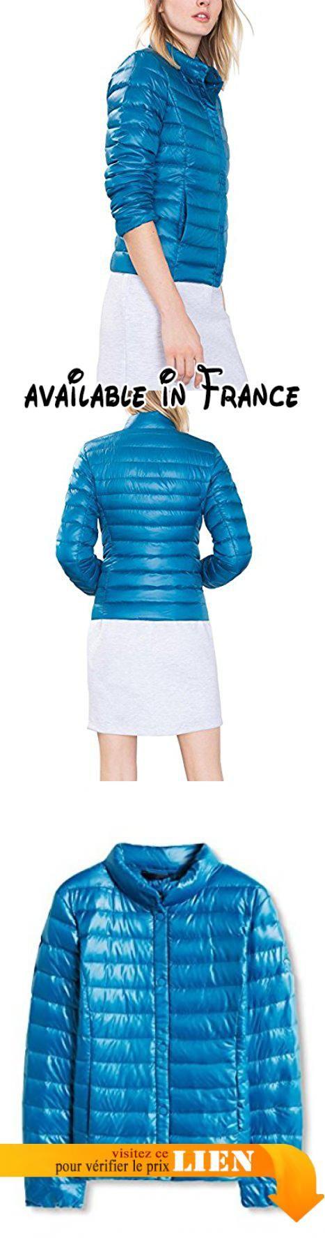 edc by ESPRIT mit Echtdaune, Blouson Femme, Bleu (PETROL BLUE), 36 (Taille fabricant: Small). Légère doudoune edc en duvet véritable à col montant et fermeture pressionnée. Idéale pour la mi-saison, rembourrage: 90% duvet et 10% plumes #Apparel #OUTERWEAR