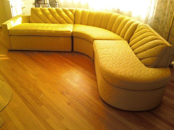 Vintage mid century Sectional Sofa LARGE Like NEW by kcalixtro