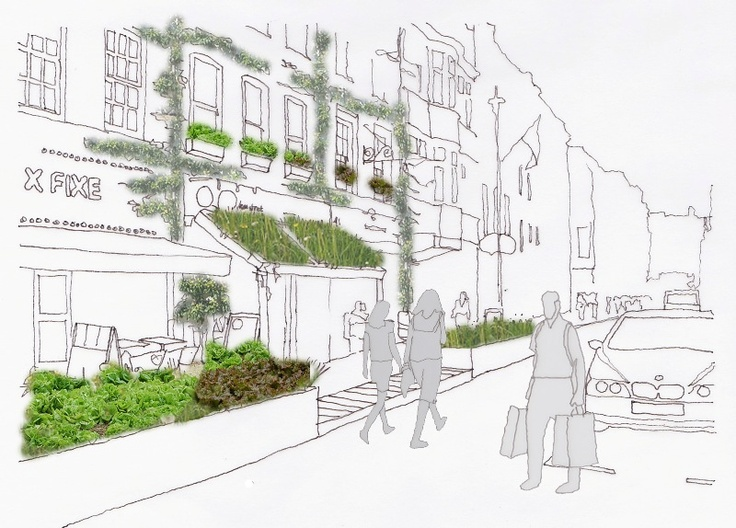 Green Future Proposed For Londons Soho Landscape Institute News Architecture VisualizationArchitecture StudentArchitecture SketchesGreen