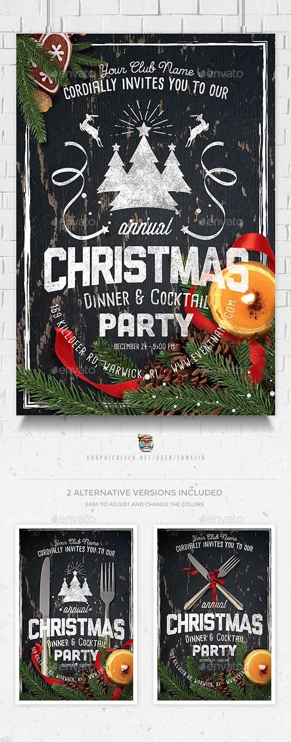 company christmas party invitation templates%0A Christmas Celebration Flyer Template
