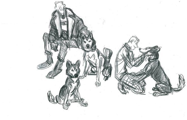 Sketch by Tom Gately.