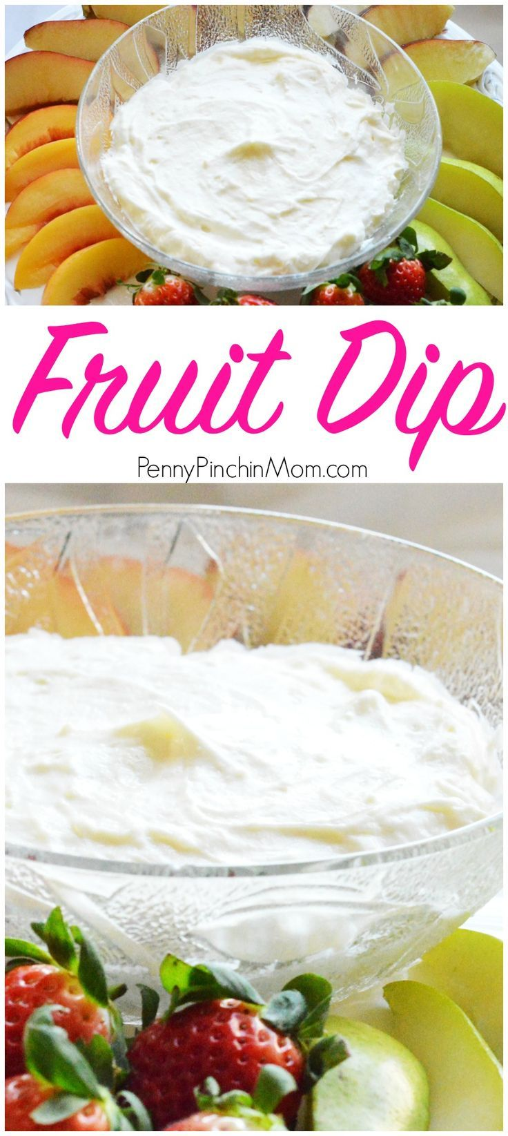 Super easy snack to eat more fruit - fruit dip! Easy to make and oh, so tasty! It is perfect for an appetizer or even dessert for your holiday get together. Simple recipes | healthy snacks | snacks for kids | kid friendly recipes | after school snack idea