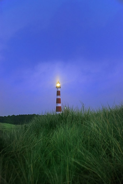 Lighthouse on Ameland, one of the isles of Holland
