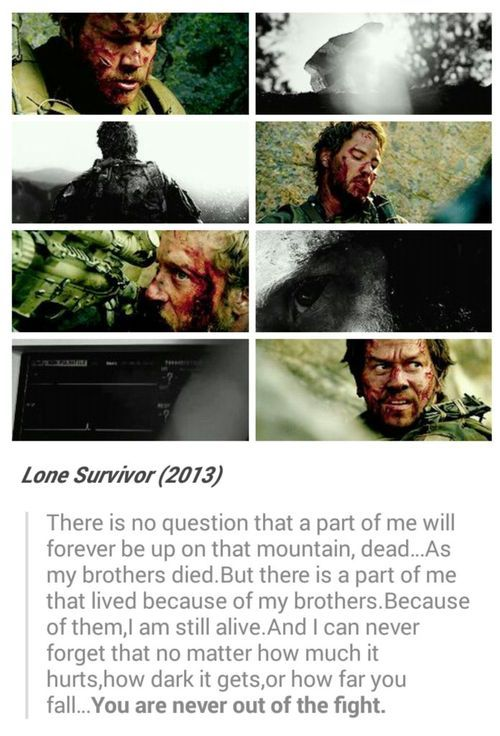 Lone Survivor. One of the best movies I've ever seen! I'm so thankful for our troops, and their families.