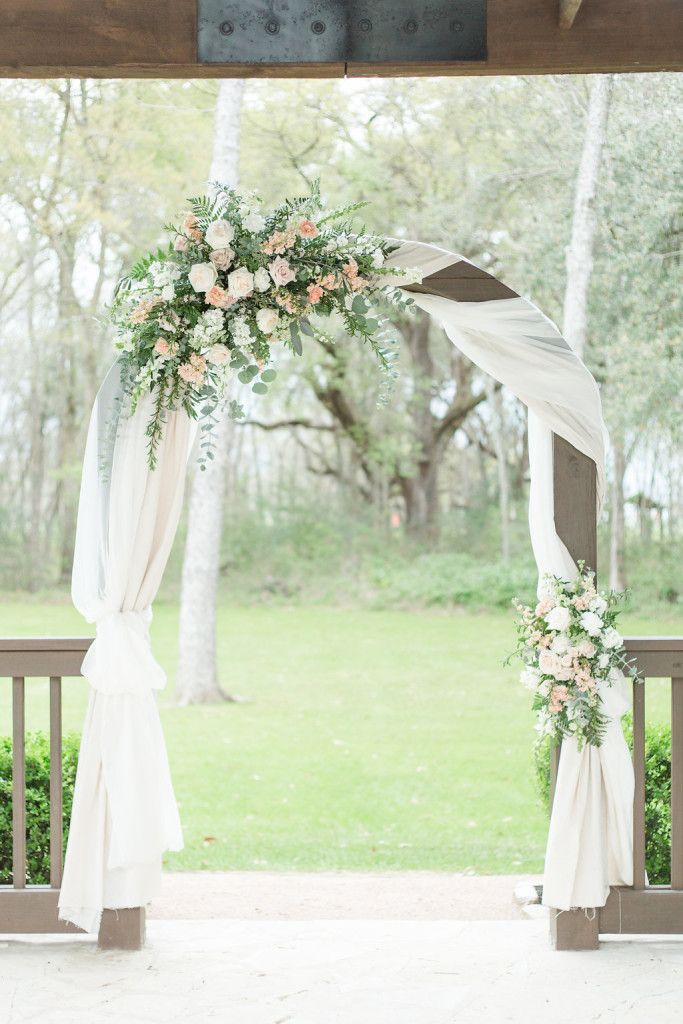 Absolutely Stunning Wedding Arch Decor So In Love With The Drapery Wrapped All Around The Arch Wi Wedding Flower Archway Wedding Arch Arch Decoration Wedding