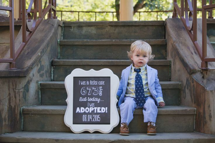 Adoption Day photo sign