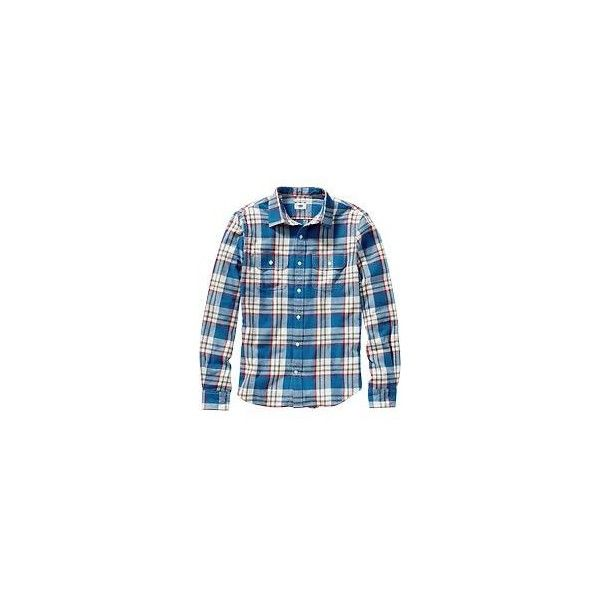 Old Navy Mens Plaid Flannel Shirts Size XXXL Big - Blue blazes ($13) ❤ liked on Polyvore featuring men's fashion, men's clothing, men's shirts, men's casual shirts, cameron hammerstein, mens blue shirt, mens blue button down shirt, mens fitted shirts, mens tartan shirt and mens long sleeve button shirts