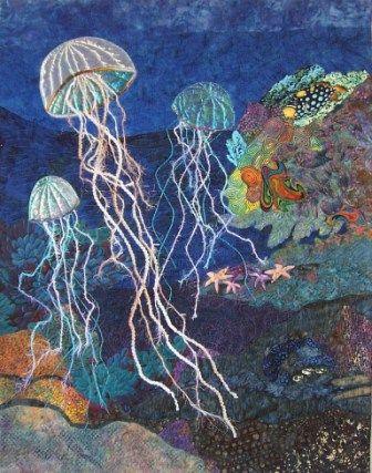 """Adrift"" by Eileen Williams.  Seascape quilt."