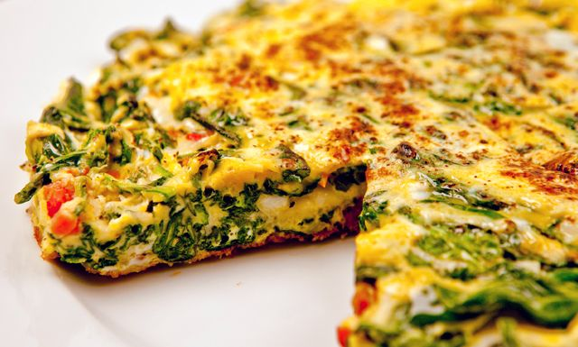 Spinach Havarti Frittata w/ oven dried tomatoes. (nuwave) totally adaptable