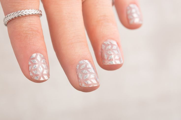 STUNNING Geo Diamond Jamberry Nail Wraps! ♥♥♥ For more inspiration like this follow me on Instagram: http://instagram.com/catsnailwraps
