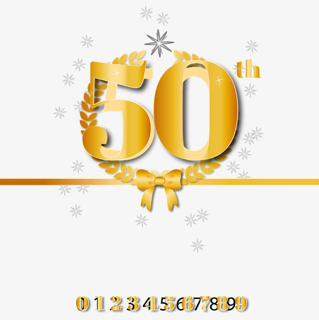 Golden 50th Anniversary Vector Material Golden 50th Anniversary Golden Vector Anniversary Vector Png Transparent Clipart Image And Psd File For Free Download 50th Anniversary Anniversary Clip Art