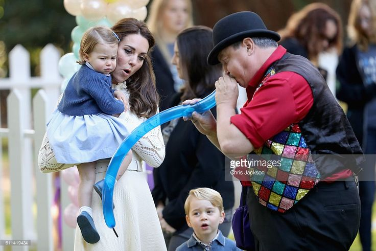 Catherine, Duchess of Cambridge and Princess Charlotte of Cambridge at a children's party for Military families during the Royal Tour of Canada on September 29, 2016 in Victoria, Canada. Prince William, Duke of Cambridge, Catherine, Duchess of Cambridge, Prince George and Princess Charlotte are visiting Canada as part of an eight day visit to the country taking in areas such as Bella Bella, Whitehorse and Kelowna  (Photo by Chris Jackson - Pool/Getty Images)