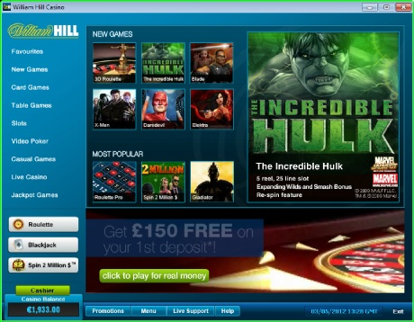 Enjoy the best collection of free casino games. 1x2 Games Casino has the largest collection of top quality casino games including: Table Games: European Roulette, 3D Roulette, American Roulette, Mini Roulette, Wild Viking, Craps, Solo Mahjong, Sic Bo and more. Card Games: Classic Blackjack, Progressive Blackjack, Baccarat, Caribbean Stud Poker, Casino Hold 'Em, Tequila Poker, Pai Gow Poker, Red Dog, Pontoon, Stravaganza and more. Slots Games: Fantastic 4, The Incredible Hulk, Iron Man, King…