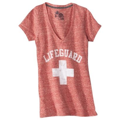 Juniors Lifeguard Graphic Tee - Absolutely Red