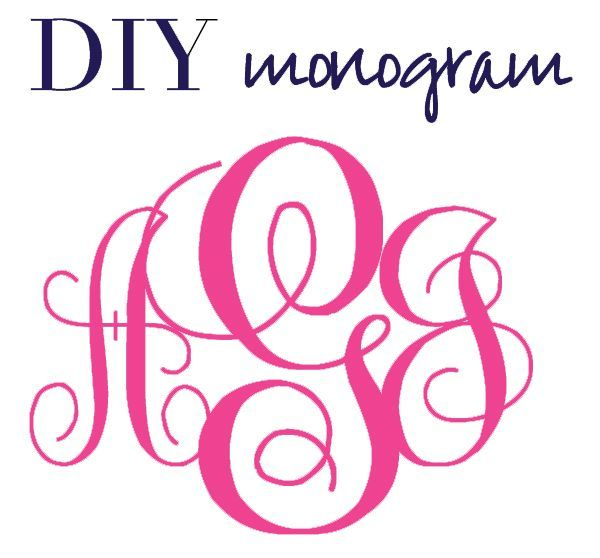 7 best 4 letter monogramming images on pinterest for Free monogram template