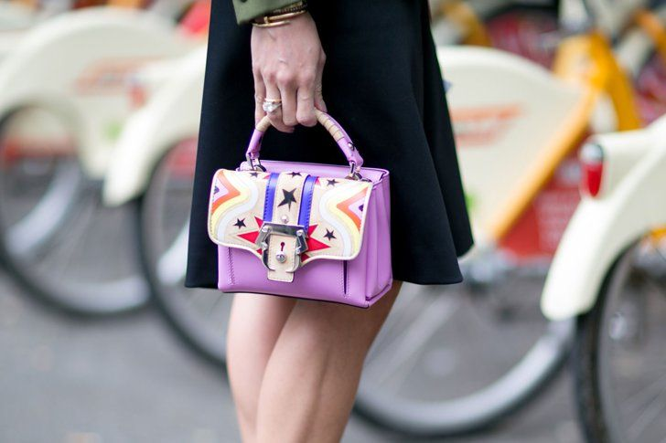 Pin for Later: Updated! See All the Quirky-Cool Shoes and Bags We Spotted at MFW Milan Fashion Week, Day 6 Paula Cademartori bag.