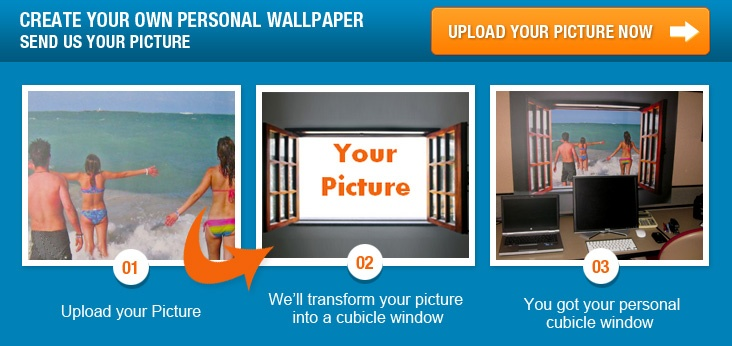 upload a beautiful family photo and decorate your cubicle