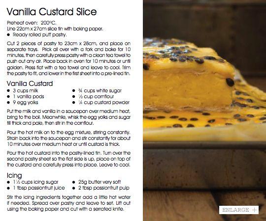 Vanilla Custard Slice   Vudu Cafe Queenstown