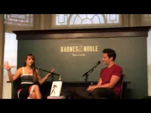 Lea Michele and Jonathan Groff Q&A Brunette Ambition signing 21/5 (part 1) - YouTube