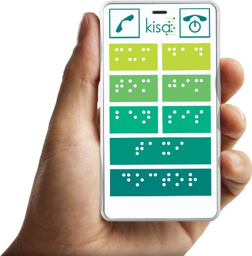 Braille phone by KISA - up to 10 contacts and much more!