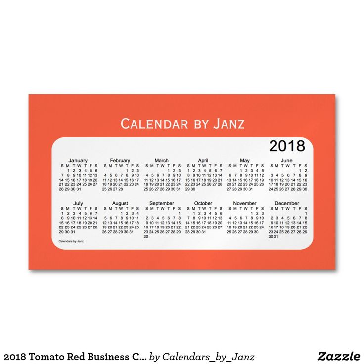 2018 Tomato Red Business Calendar by Janz Magnet