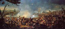 Napoleón Bonaparte - La batalla de Waterloo, por William Sadler.