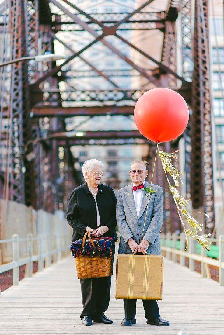 Un couple célèbre ses 61 ans de mariage façon là-haut - http://www.2tout2rien.fr/un-couple-celebre-ses-61-ans-de-mariage-version-la-haut/