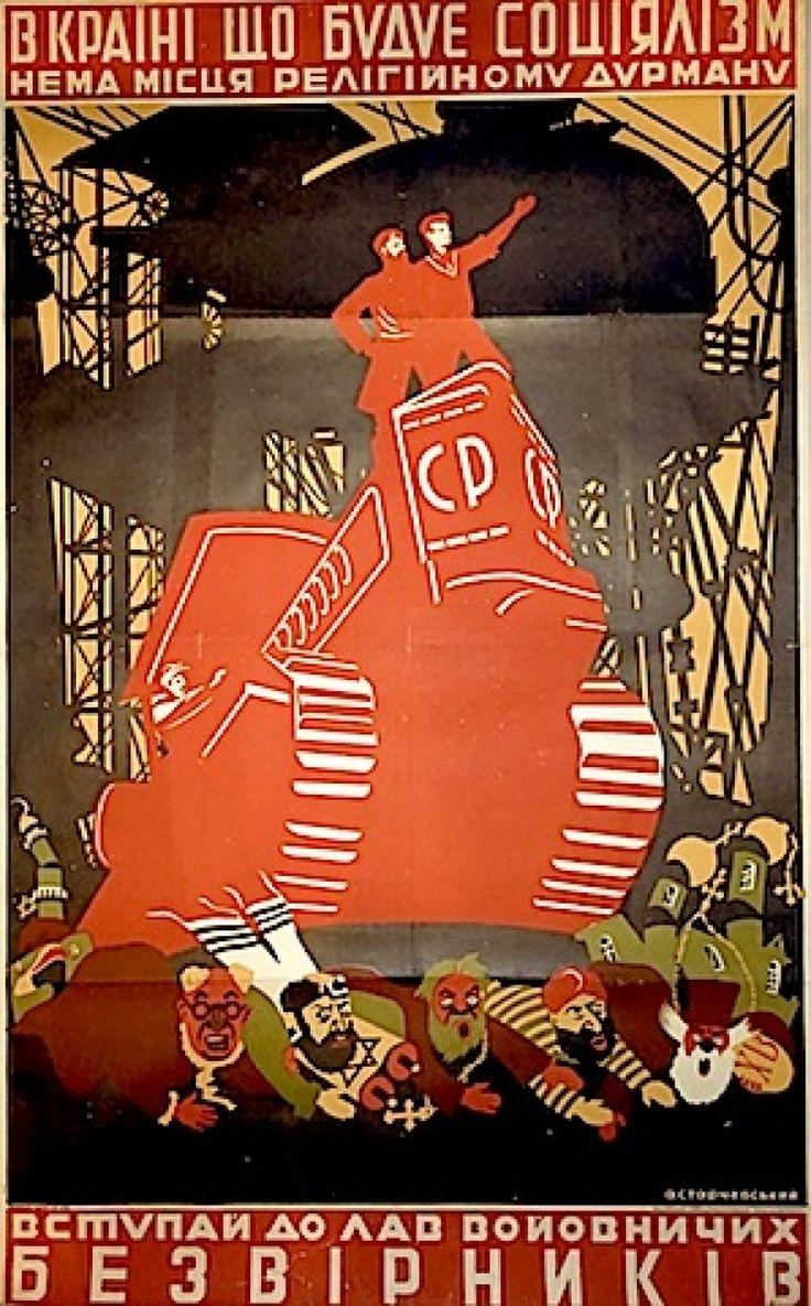 Soviet anti-religious propaganda.