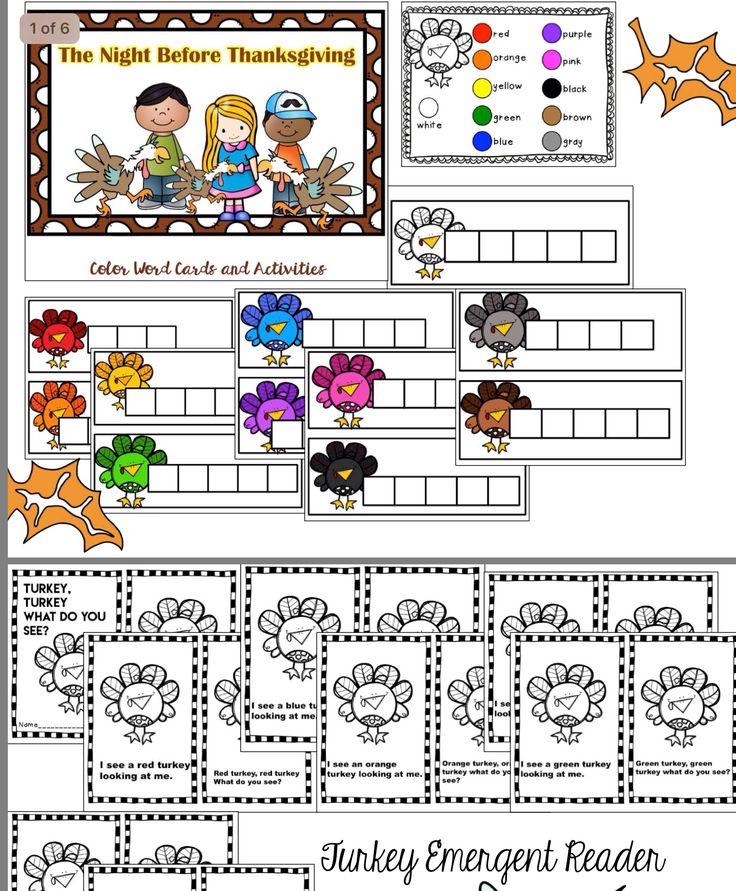'Twas The Night Before Thanksgiving... Meaningful activities that are fun as well!!  Word tile mats, emergent reader with predictable text, pocket chart sequencing and literacy center activities !!!!