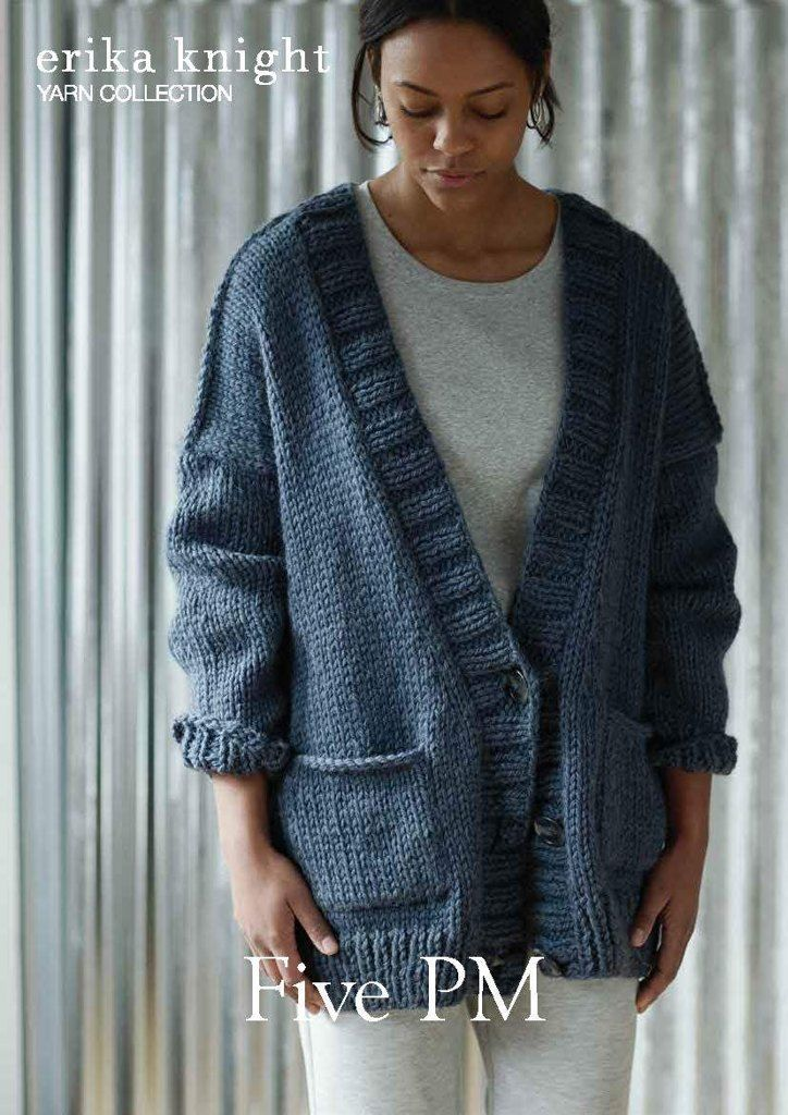 101f3af58 Five PM Sweater in Erika Knight Maxi Wool - Downloadable PDF. Discover more  patterns by Erika Knight at LoveKnitting. The world s largest range of  knitting ...