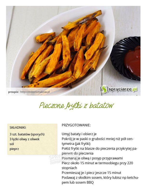 Przepis na pieczone frytki z batatów
