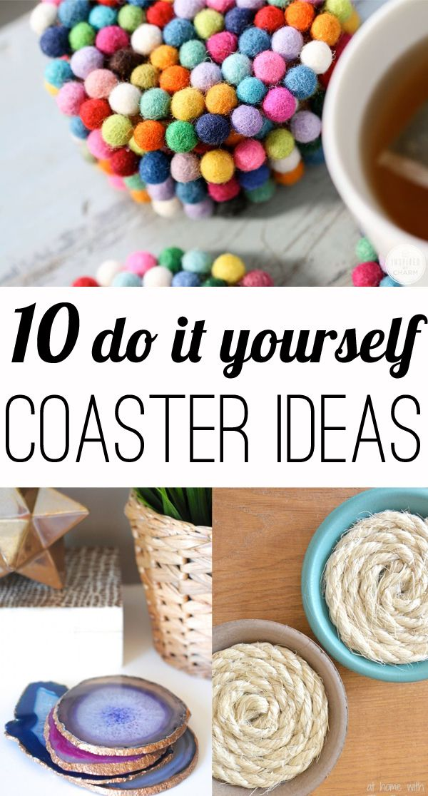 10 DIY coasters | Do it yourself, Felt fabric and Drinks
