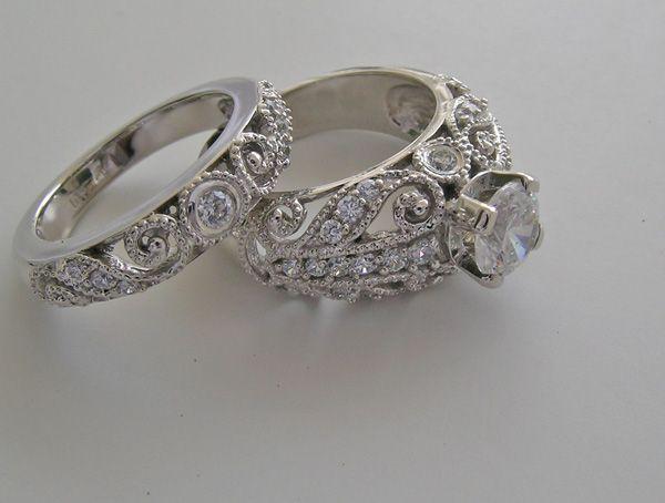 womens wedding ring set unusual engagement wedding ring sets - Womens Wedding Ring Set