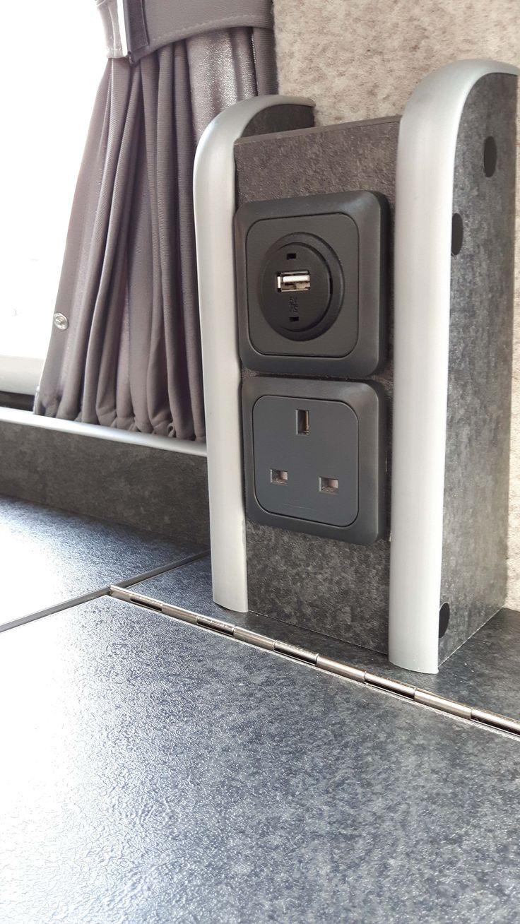 USB Charger and 240v socket T4 T5 Campervan T25 Campervan http://www.cloverfieldcampervans.co.uk/