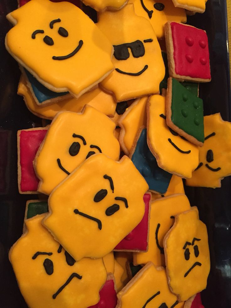 Lego cookies for my son's 6th bday