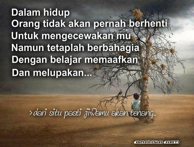Hidup ini begitu indah jika kita saling maaf memaafkan antara satu sama lain.