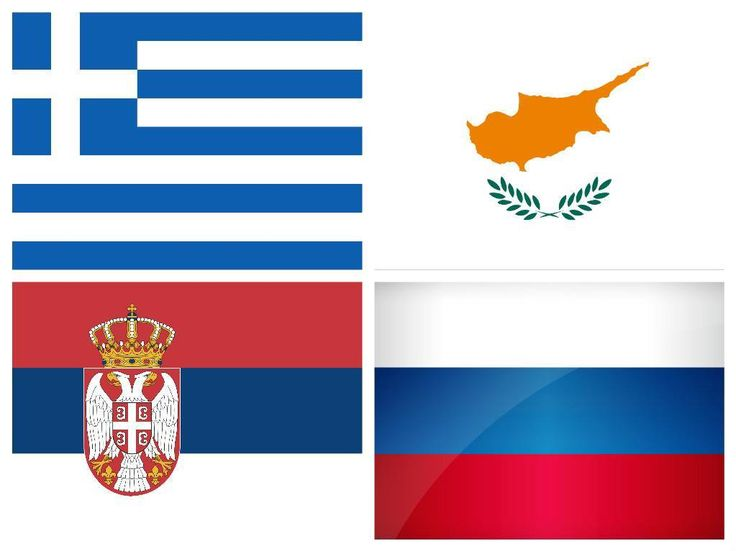 Greece, Cyprus, Serbia and Russia