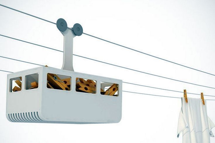 Keep your laundry pegs within reach and your wash line playful with this fun miniature cabina! by Israeli designer Avichai Tadmor http://www.luxurydreamstore.com/cabina-peg-holder/